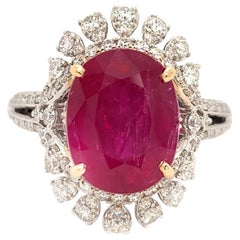 5.83 Carat Mozambique Ruby Cocktail Ring