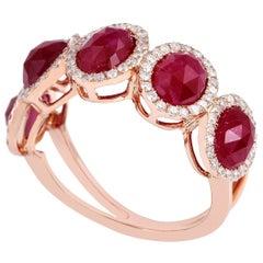 5.85 Carat Ruby Diamond 18 Karat Ring