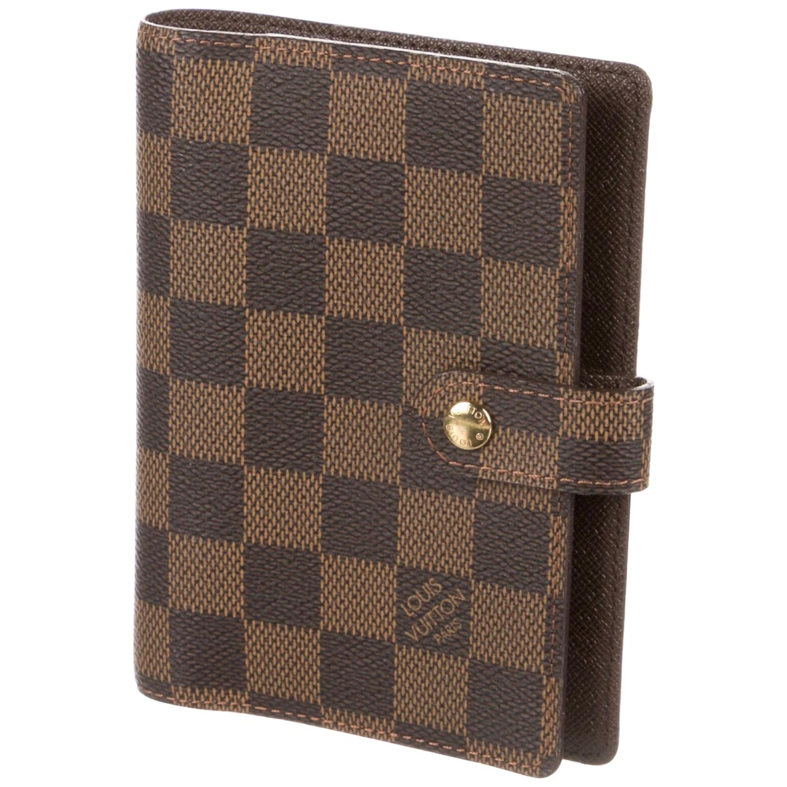 59-5 LOUIS VUITTON Damier Ebene Agenda Holder Accessories # 4667