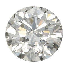 .59 Carat Loose Diamond, Round Brilliant Cut GIA Graded Solitaire Very Good I1 H