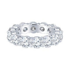 5.90ct Round Diamond Eternity Band, H VS in Platinum Band