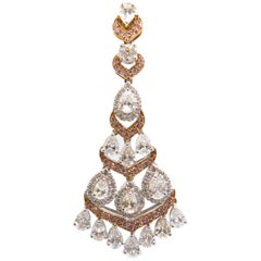 5.91 Carat Earrings Set in 18 Karat Gold with Pink Diamonds