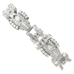5.92 Carat Diamond and Platinum/Palladium Bracelet