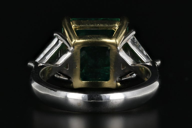 5.94 Carat Colombian Emerald AGL Certified In Good Condition For Sale In Cape May, NJ
