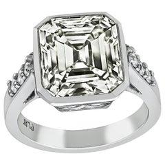 5.94 Carat Diamond Platinum Engagement Ring