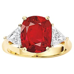 5.98 Carat Ruby Diamond Ring AGL Certified