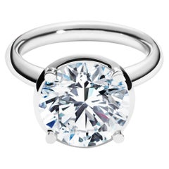 5ct Solitaire Traceable Diamond Ring In 18 Karat White Gold By Rocks for Life