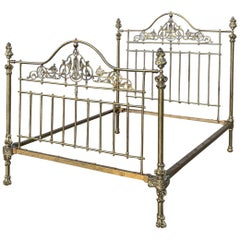 All Brass Antique King Size Bed MK225