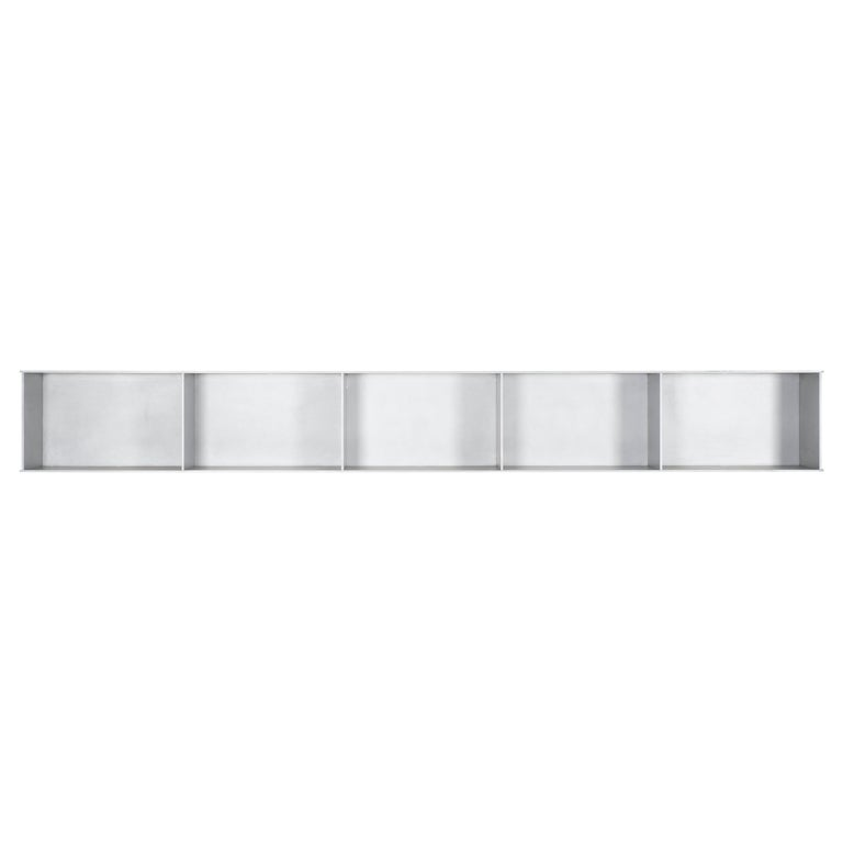 5G Wall-Mounted Shelf in Waxed Aluminum Plate by Jonathan Nesci For Sale