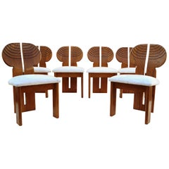6 Africa Studio Dining Chairs in the Manner of Afra & Tobia Scarpa
