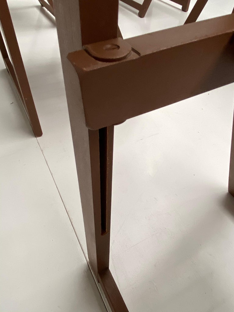 6 Aldo Jacober Folding Chairs Alberto Bazzani 1966 Italy, Low Volume Storage For Sale 4