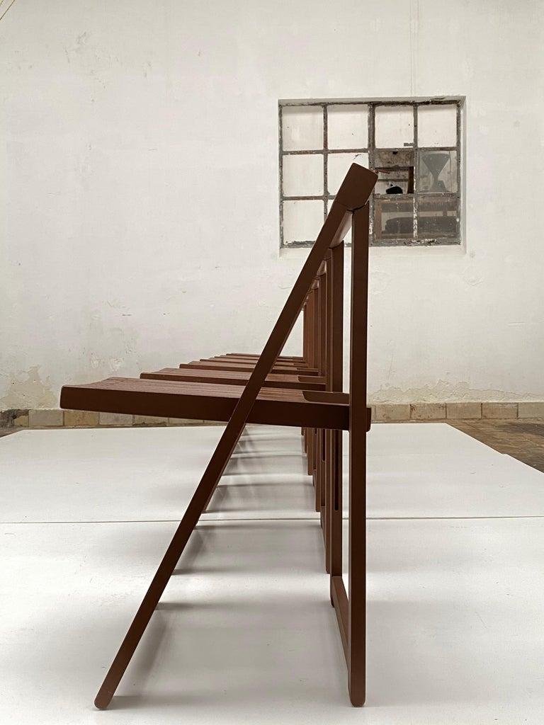 6 Aldo Jacober Folding Chairs Alberto Bazzani 1966 Italy, Low Volume Storage For Sale 6