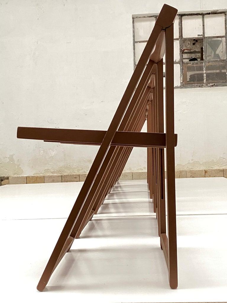 Italian 6 Aldo Jacober Folding Chairs Alberto Bazzani 1966 Italy, Low Volume Storage For Sale