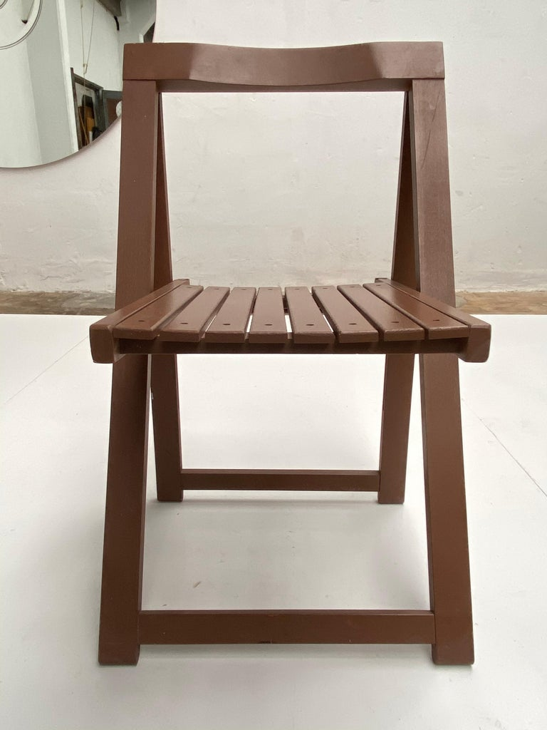 6 Aldo Jacober Folding Chairs Alberto Bazzani 1966 Italy, Low Volume Storage In Good Condition For Sale In Bergen op Zoom, NL