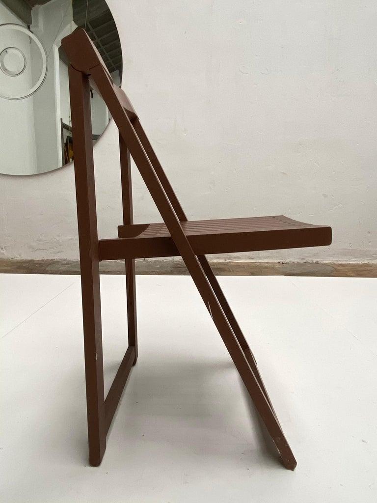 Mid-20th Century 6 Aldo Jacober Folding Chairs Alberto Bazzani 1966 Italy, Low Volume Storage For Sale