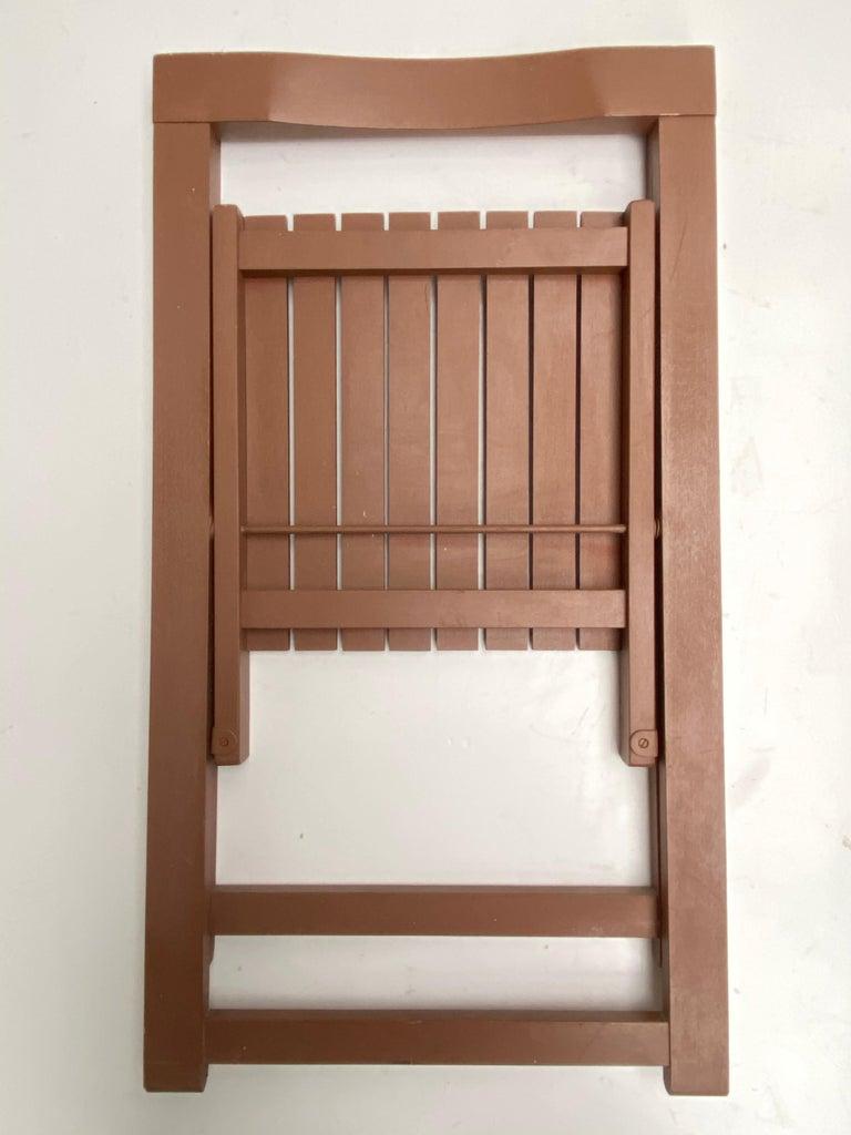 6 Aldo Jacober Folding Chairs Alberto Bazzani 1966 Italy, Low Volume Storage For Sale 1
