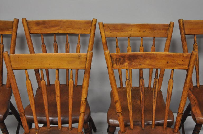 6 Antike Windsor Stuhle Amerikanischer Kolonialer Landhausstil