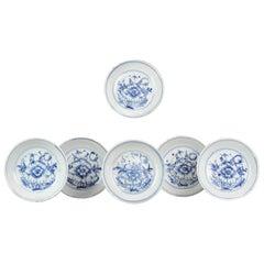 #6 Antique Chinese Porcelain Tianqi Chongzhen 16/17C Ming Peony Plate Marked