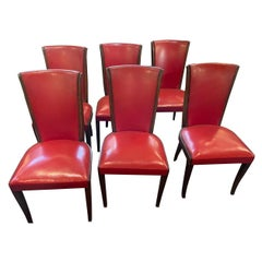6 Art Deco French Dining Room or Side Chairs