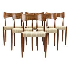 6 Bernhard Pedersen & Son Rosewood Side Chairs