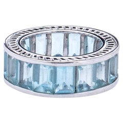 6 Carat Aquamarine Eternity Band