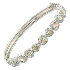 6 Carat Canary Diamond Bracelet