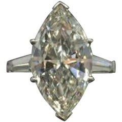 6 Carat Natural Marquise Cut Diamond Ring