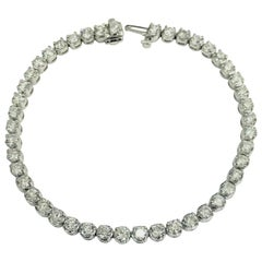 6 Carat Round Cut Diamond Tennis Bracelet