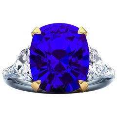 6 Carat Tanzanite and Diamond 5-Stone Cocktail Ring
