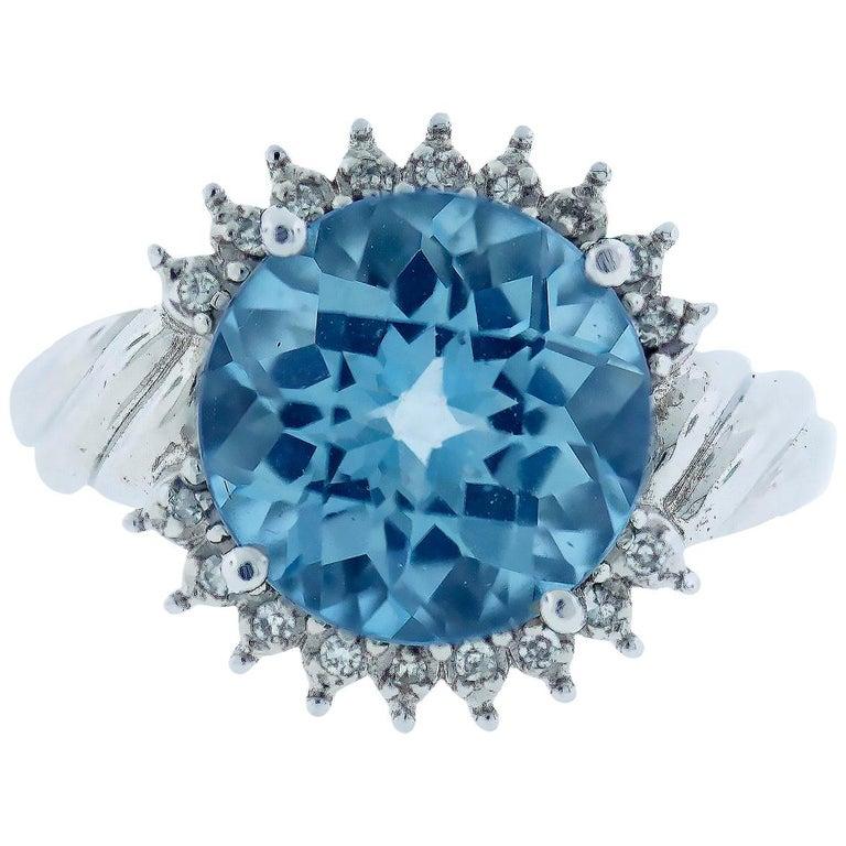 6 Carat Topaz Ring For Sale
