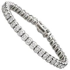 6 Karat Platin Diamant Tennisarmband Lünette Set