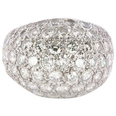 6 Carat White Gold Dome Ring