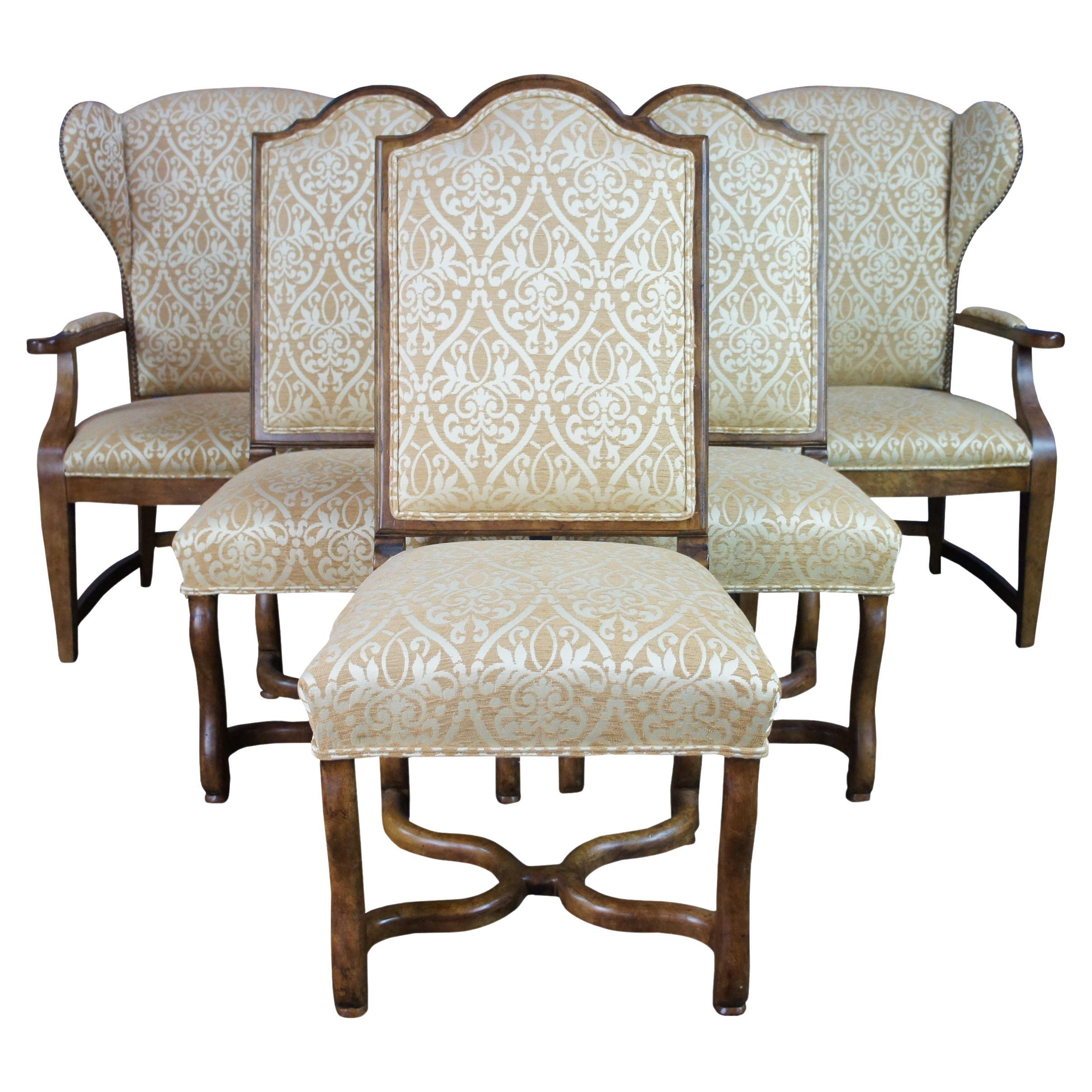 6 Century Furniture Deer Creek Caribou Dining Chairs Old World French Country