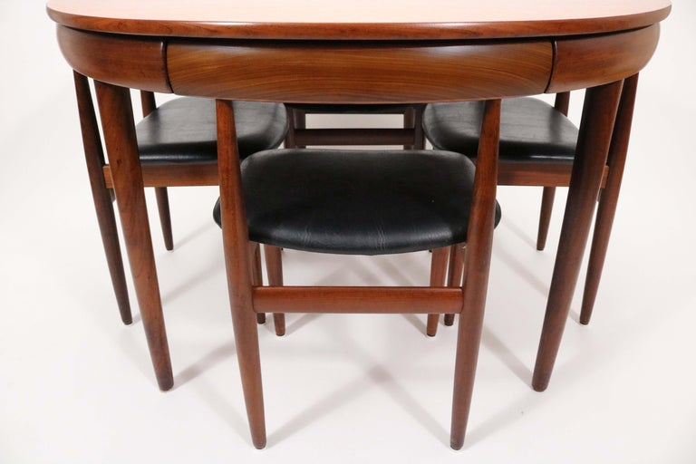 Six-Chair Dining Set by Hans Olsen for Frem Røjle For Sale 3