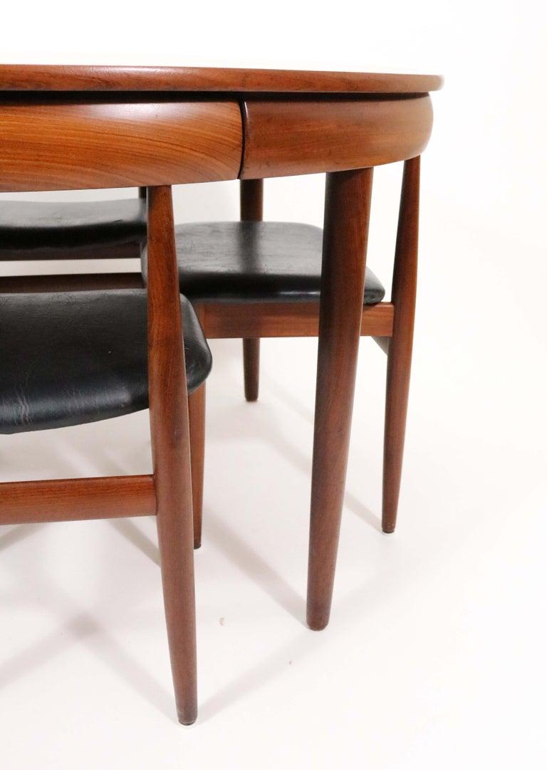 Six-Chair Dining Set by Hans Olsen for Frem Røjle For Sale 4