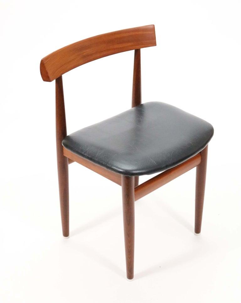 Six-Chair Dining Set by Hans Olsen for Frem Røjle For Sale 5