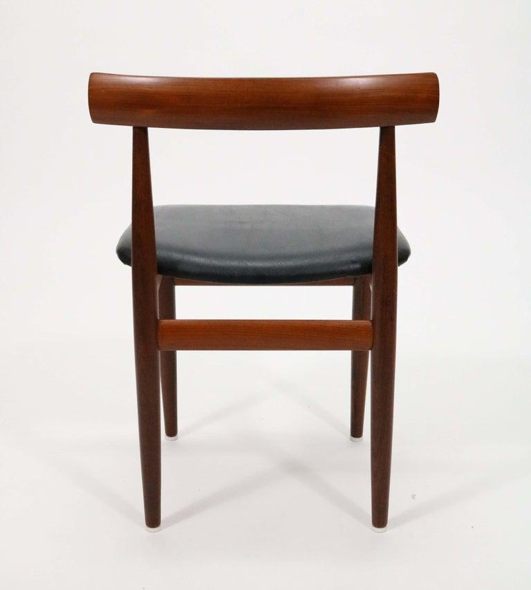 Six-Chair Dining Set by Hans Olsen for Frem Røjle For Sale 7