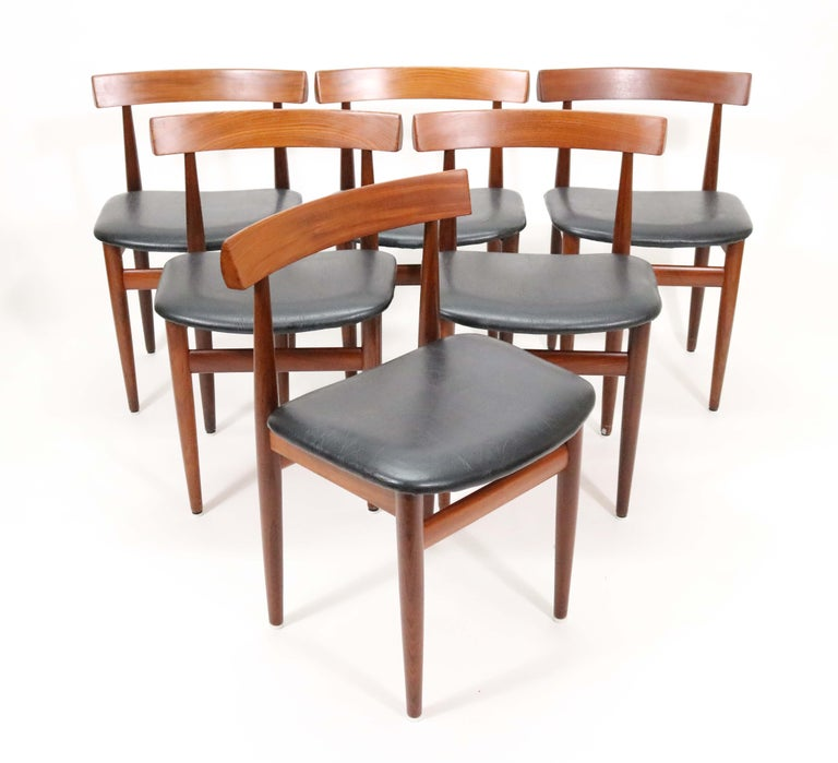 Six-Chair Dining Set by Hans Olsen for Frem Røjle In Good Condition For Sale In Denver, CO
