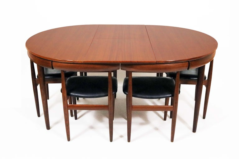 Mid-20th Century Six-Chair Dining Set by Hans Olsen for Frem Røjle For Sale
