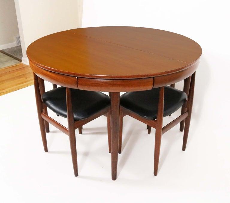 Six-Chair Dining Set by Hans Olsen for Frem Røjle For Sale 1