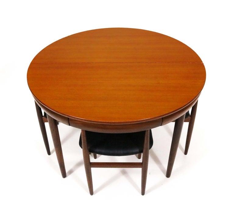 Six-Chair Dining Set by Hans Olsen for Frem Røjle For Sale 2