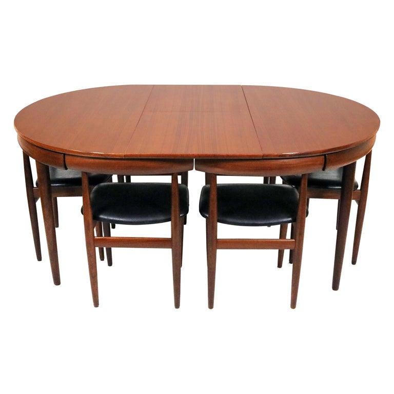 Six-Chair Dining Set by Hans Olsen for Frem Røjle For Sale
