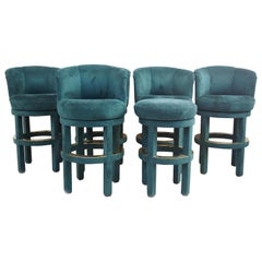 6 Custom Upholstered Bar Stools