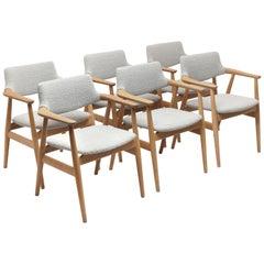 6 Danish Dining Room Armchairs by Svend Åge Eriksen, Glostrup Møbelfabrik