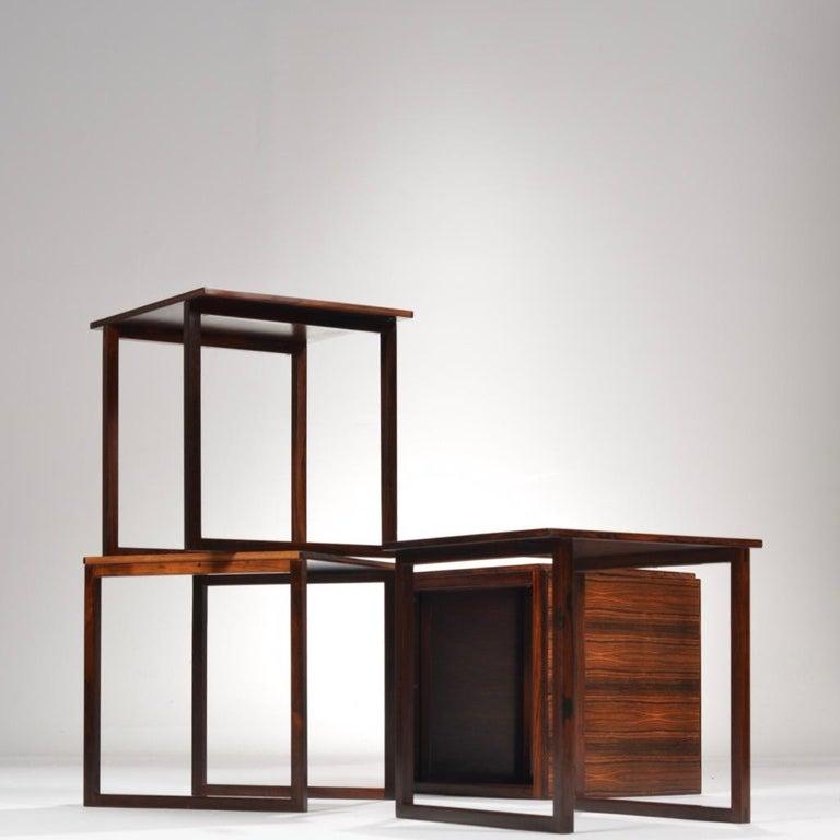 6 Danish Modern Rosewood Nesting Tables 1