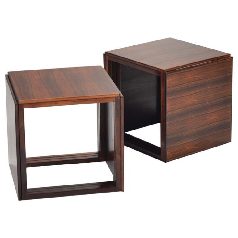6 Danish Modern Rosewood Nesting Tables