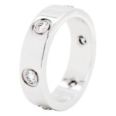 6 Diamond White Gold Cartier Love Ring