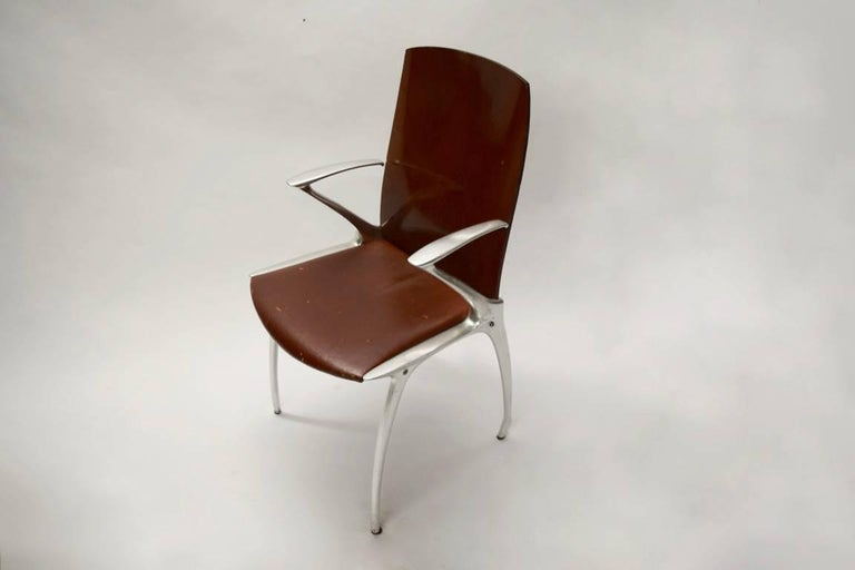 Six Dining Chairs Attributed to Philippe Starck, circa 1985 In Excellent Condition For Sale In Jersey City, NJ