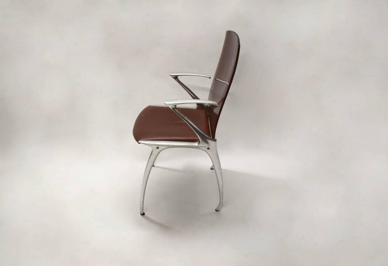 Late 20th Century Six Dining Chairs Attributed to Philippe Starck, circa 1985 For Sale