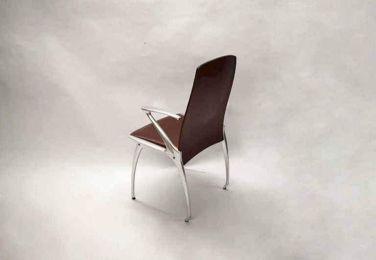 Six Dining Chairs Attributed to Philippe Starck, circa 1985 For Sale 1